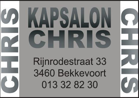 Sponsor: Kapsalon Chris